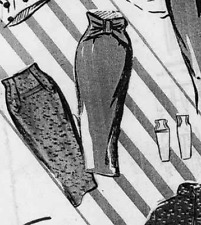1950 Vintage Wiggle Sewing Pattern High Waist Sheath Skirt 14 16 18 VTG