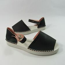 Havaianas Womens Size 7 US Slip On Open Toe Slippers Sandals Stitched Black