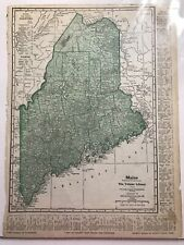 New ListingAntique Map of Maine, 1927, Great for framing, Original from Educators Assoc, Ny