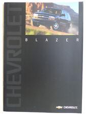 Chevrolet Blazer 4.3 V6 MJ 2000 - Prospekt Brochure 09.1999