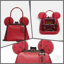 Disney X Coach 1941 Minnie Mouse Kisslock Bag Limited Edition Red Glitter ❤
