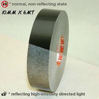 Schwarz Black Reflexfolie Reflektorband Reflektorfolie selbstklebend 600cm x10mm