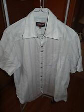 CHEMISE RAYEE BLANCHE JAUNE BLEU CIEL O'NEILL TAILLE L