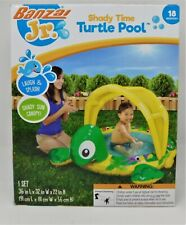 BANZAI JR SHADY TIME TURTLE POOL - Kids Toddler Paddling Swimming 18Mths+