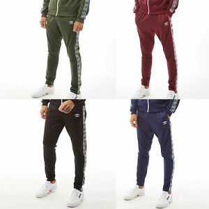 Mens Umbro Joggers Active Style Taped Tricot Pants Sweat Bottoms Track Pants