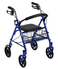Drive Medical Walker Rollator with 4 Wheels and Removable Back Support