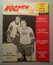 HOCKEY PICTORIAL 1965 MAURICE RICHARD, JEAN BELIVEAU, PHIL ESPOSITO ROOKIE, HOWE
