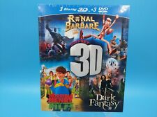 coffret 3 film neuf blu ray 3D ronal le barbare horrible henry dark fantasy