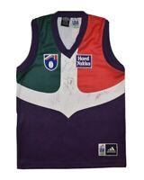AFL Fremantle Dockers Vintage 90s Adidas On Field Jersey Jumper Signed - Boys 14