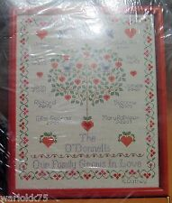 Counted Cross Stitch Kit Family Tree Personalized Sampler 1987 Current