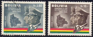1966 Bolivia SC# C259-C260 - F - Co-Presidents Type of Regular Issue - Used