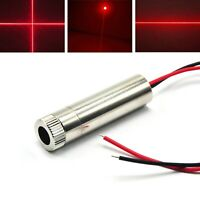 650nm 100mW Red Dot Line Cross Focusable Laser Diode Module Dia 12mm 5V Driver