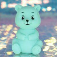 "Aqua Blue Mint Green Teddy BEAR 3.5"" Plastic Vinyl Toy Figure Vintage 1994 BH876"