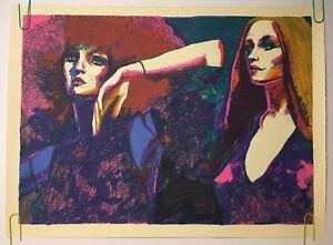 Original Vintage Poster John Hardy Lingerie Limited Signed Art Print Litho 1980s