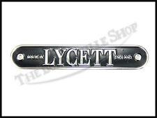 TRIUMPH BSA MATCHLESS NORTON AJS ETC LYCETT SEAT BADGE PLATE PN# TBS-08-6005