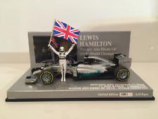 Minichamps 410140644 Lewis Hamilton Campeón Del Mundo 2014 Ganador Abu Dhabi