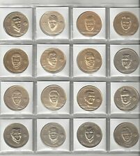 16 1969 New Orleans Saints Pro Players Coin Token Lot Kilmer Atkins Rowe Parks