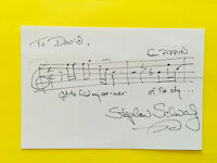 """Stephen Schwartz  AMQS >From >Pippin """"Corner of the sky """" Signed autographed 4X6"""