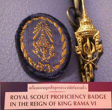 SCOUTS THAILAND - ROYAL KING'S ROVER SCOUT Highest Rank Top Award & Pin Patch