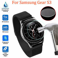2-PACK Premium Tempered Glass Protector For Smart Watch Samsung Gear S3 Frontier