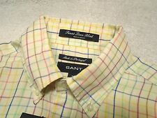 Gant Cotton Linen Blend Tattersall Check Sport Shirt Long Sleeve NWT Small $195