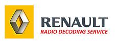 RENAULT DECODE RADIO CODE SERVICE,CD ESPACE MEGANE SCENIC CLIO MASTER LAGUNA