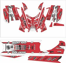 POLARIS RUSH PRO RMK  ASSAULT 120 144 155 163 hood wrap kit DECAL tunnel red L