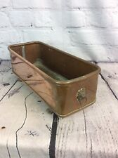 More details for vintage copper & brass planter / trough lions head handles, free uk delivery