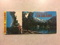 Greetings from Pikes Peak Region Colorado Big Letter Vintage Postcard Booklet
