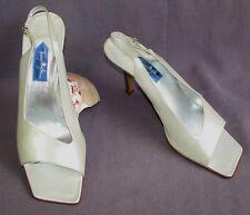 THIERRY MUGLER Sandales talons 9 cm tout cuir blanc nacré 39.5 EXCELLENT ETAT
