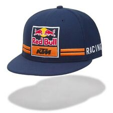 KTM Red Bull Equipo Visera Plana Sombrero Gorra Azul Naranja Nuevo