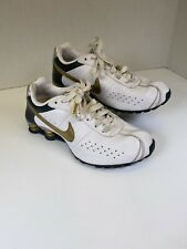 Nike Shox NZ White Gold 343907-171 Running Athletic Shoes Women's Size 9