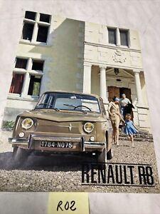 Renault 8 R8 catalogue brochure prospectus dépliant automobile vintage