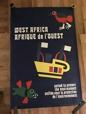 Vintage United Nations West Africa Seas Protection POSTER artist Nikki Meith