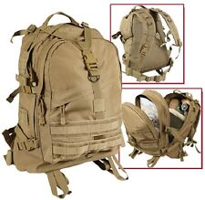 LARGE COYOTE Military Style Medical Transport MOLLE Assault Pack Back pack 7289
