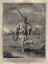Stackhouse's Bible - DAVID KILLETH GOLIATH - Antique Copper Engraving - 1752