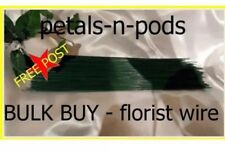 250pcs Green florist/craft wires 28gauge by 7L Floral Crafts