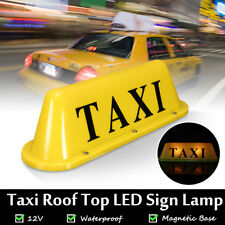 Yellow Super Bright LED 12V Taxi Cab Roof Top Topper Sign Light Lamp Magnetic US