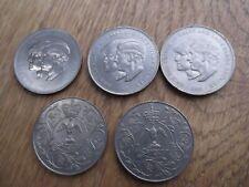 3 x Royal Wedding 1981 Charles Diana Crown. 2 x 1977 Silver Jubilee Crown