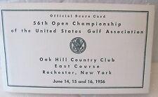 d71aa85a400 OFFICIAL UNUSED SCORECARD-1956 U.S. OPEN OAK HILL C C CARY MIDDLECOFF