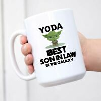 Yoda Best Son In Law Mug Funny Birthday Gift for Men Novelty Coffee Comment Tea