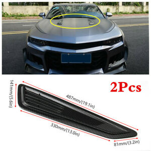1 Pair ABS Air Flow Intake Hood For Car SUV Bonnet Auto Decorative Accessories