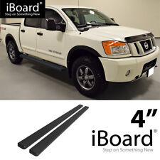 Running Board Side Step Nerf Bars 4in Black Fit Nissan Titan Crew Cab 04-18