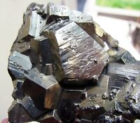 PYRITE SHINING PENTADODECAHEDRAL CRYSTALS on MATRIX from PERU...WONDERFUL PIECE.