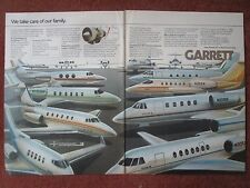 9/1982 PUB GARRETT TFE731 ENGINE BUSINESS AIRCRAFT FAMILY FALCON ASTRA LEAR AD
