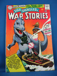 STAR SPANGLED WAR STORIES 123 VF NM Dinosaur Cover 1965