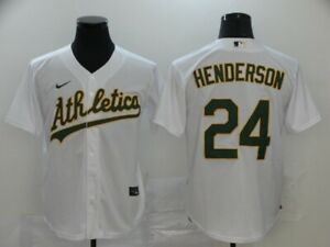 Oakland Athletics 24 Rickey Henderson player Jersey