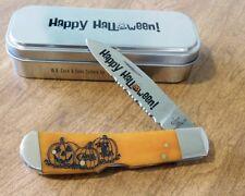 CASE XX New Persimmon Orange Bone 1 Blade Halloween Tribal Lock Knife/Knives