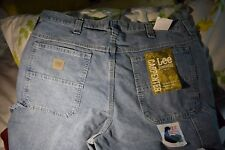 NEW w/tag Men's Lee Carpenter 36/30 Classic Retro Stone Straight Leg Blue Jeans