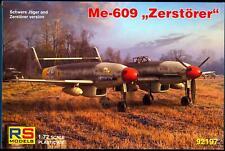 RS Models 1/72 MESSERSCHMITT Me-609 ZEROSTORER Heavy Fighter Project